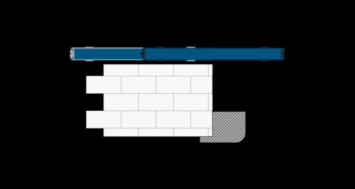 Scorrevole esterno muro