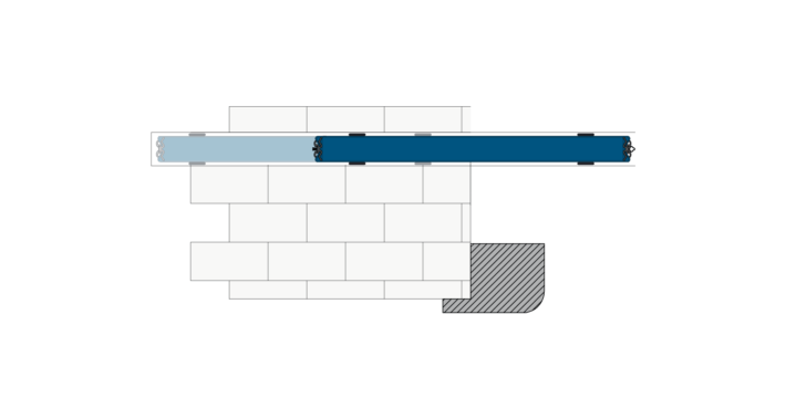 Scorrevole interno muro